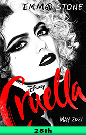 cruella movie poster vod